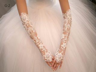 Свадебные перчатки модель 1