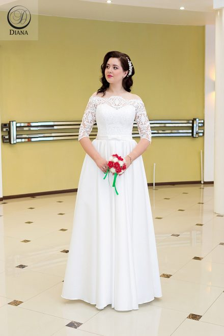 Свадебное платье Медея из атласа