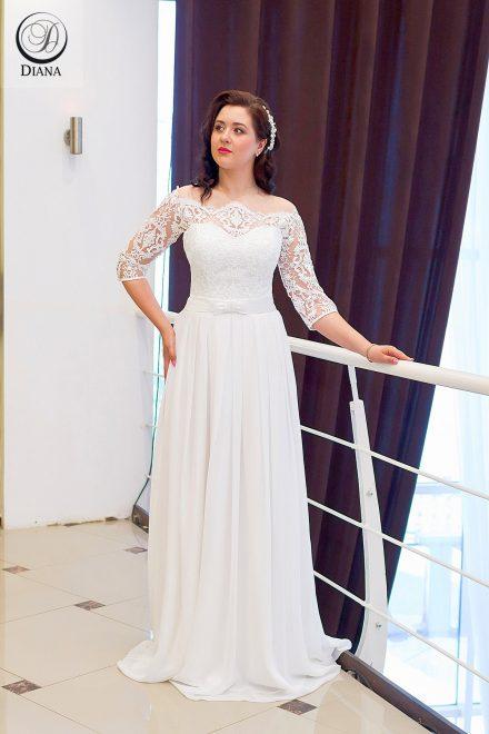 Свадебное платье Медея из шифона