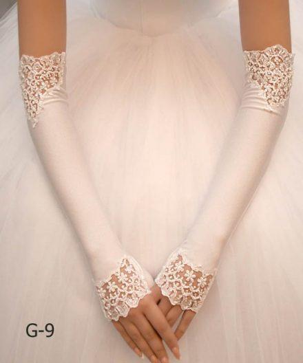 Свадебные перчатки модель 2