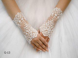 Свадебные перчатки модель 3