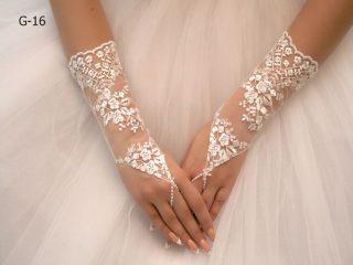 Свадебные перчатки модель 4