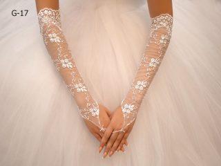 Свадебные перчатки модель 5
