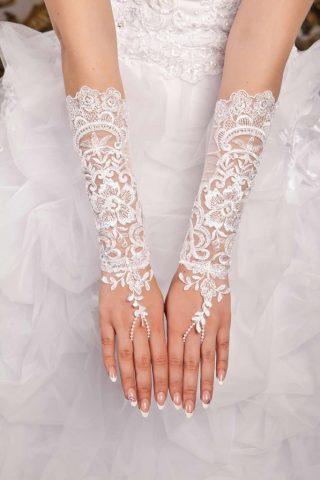 Свадебные перчатки модель 6