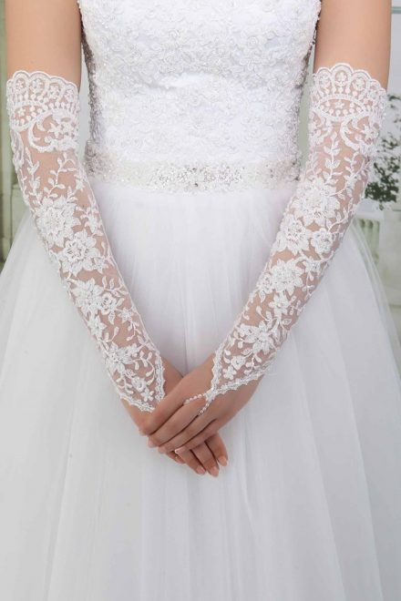 Свадебные перчатки модель 7