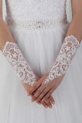 Свадебные перчатки модель 9