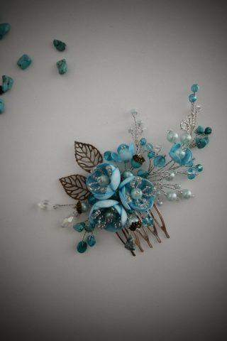 Голубой мини гребешок
